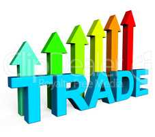 Trade Increasing Indicates Business Graph And Biz
