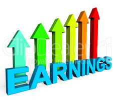 Earnings Increasing Indicates Business Graph And Diagram