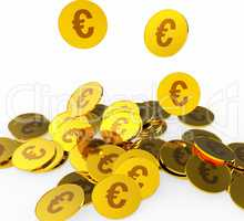 Euro Coins Represents Prosperity Euros And Financing