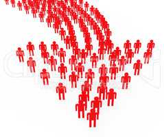 People Synergy Leadership Represents Team Work And Authority