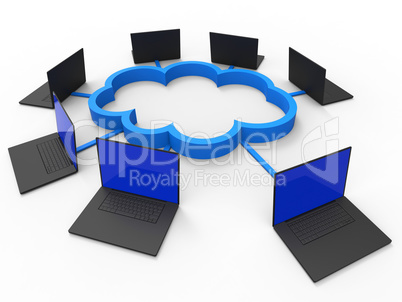 Cloud Computing Shows Information Technology And Communicate