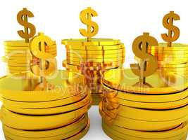 Dollars Cash Indicates Invest Bank And Increase