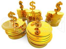 Dollars Cash Means Money Bank And Finance
