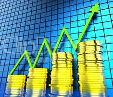 Increase Cash Graph Shows Financial Report And Analysis