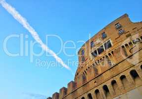 Bottom view of Castel Sant'angelo in Rome