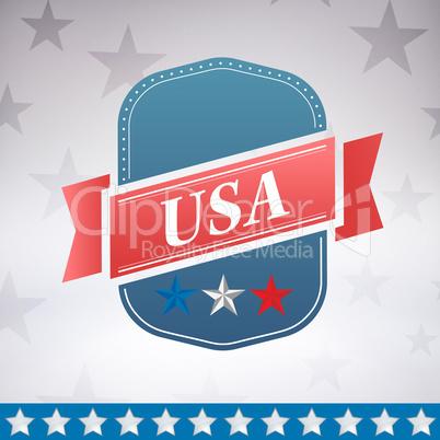 Digitally generated image of badge