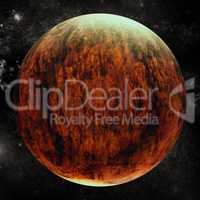 Digital composite image of planet earth