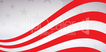 Digitally composite of red and white striped