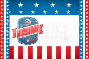 Badge on American flag