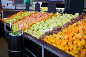 Variety on fruits in organic section