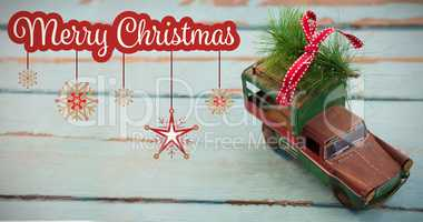 Composite image of white and red greeting card