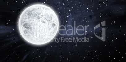Composite image of full moon
