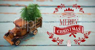 Composite image of christmas greeting