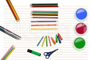 Composite image of composite image of school stuff