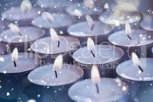 Illuminated candles during christmas