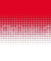 Punktemuster mit Farbübergang rot weiß