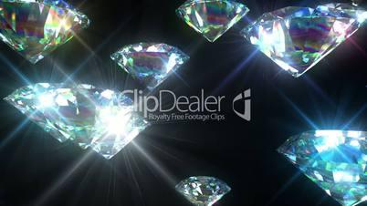 Bright Diamonds Looped animation. Luxury Background. HD 1080.