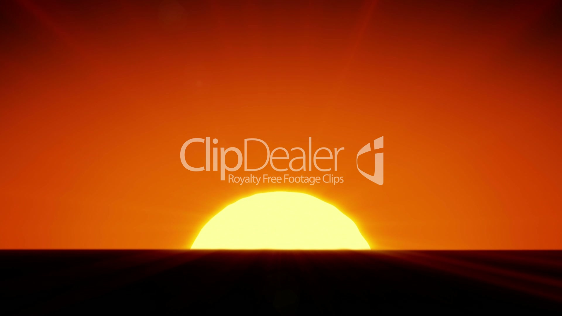 Beautiful Sun Rising Over Horizon 3d Animation Of The Sunrise Hd