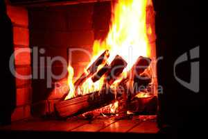 Fireplace With Flame