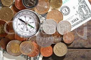 Compass On Money