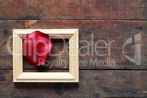 Rose Petal On Wood