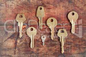 Keys On Wood