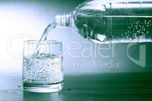 Mineral Water On Dark