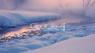 Evening Mist on a Winter River