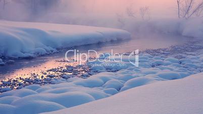 Evening Mist on a Winter River