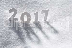 Text 2017 With White Letters In Snow