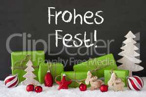 Decoration, Cement, Snow, Frohes Fest Means Merry Christmas
