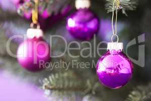 Blurry Christmas Tree With Rose Quartz Balls