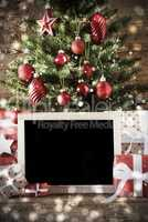 Christmas Tree , Bokeh Effect With Copy Space