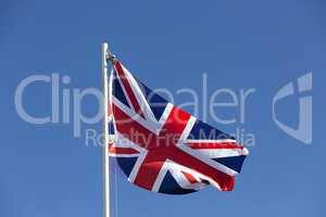 UK flag on a flagpole