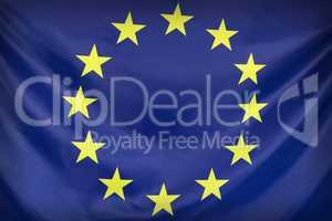 Textile flag of European Union