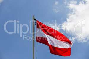 National flag of Austria on a flagpole