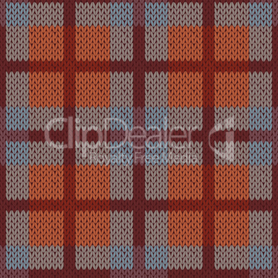 Seamless pattern as a knitted fabric mainly in brown hues