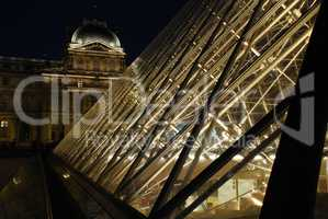The Louvre Palace and the Pyramid (by night)