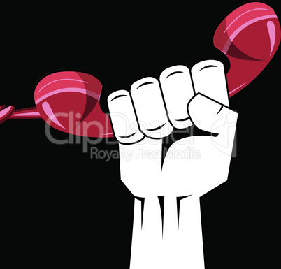 Hand holding a phone vector. Call Now or Order now concept.