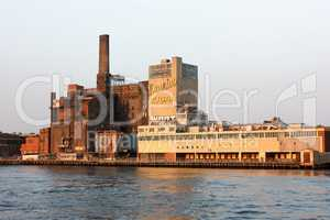 View from Hudson on Domino Sugar Refinery