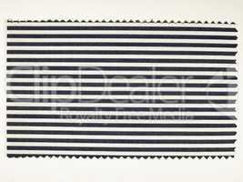 Vintage looking Black Striped fabric sample