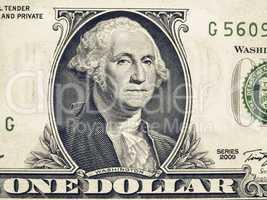Vintage Detail of One Dollar note 1 Dollar