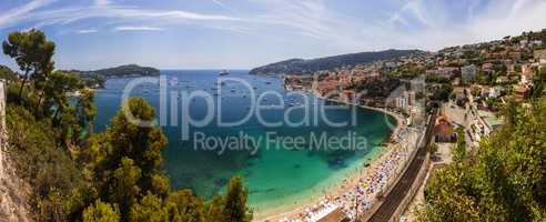 Bay of Villefranche Sur Mer and Cap Ferrat, Cote d'Azur, France