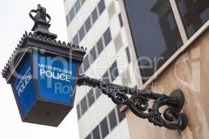 British Metropolitan Police Lamp Sign