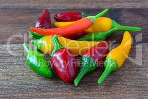 Heap of hot chili peppers