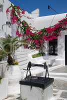 Courtyard of a house on the island Mykonos