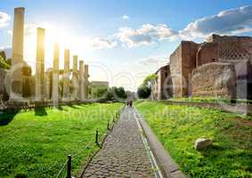Road to Roman Forum