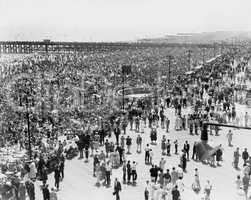 Coney Island, NY, on July 4, 1936