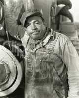 Annoyed workman
