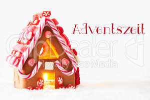 Gingerbread House, White Background, Adventszeit Means Advent Season